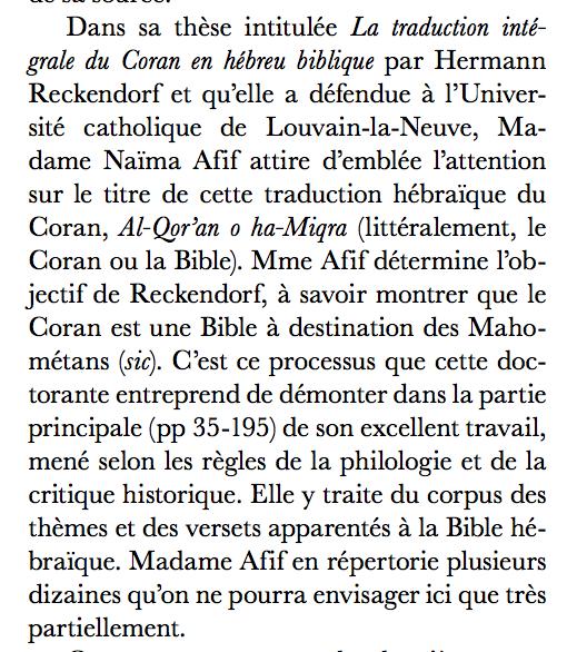 #Presse : thèse sur le Coran hébreu pendant les Lumières juives
